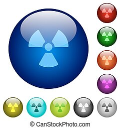 Color radiation glass buttons