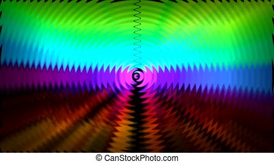 color ray light and circle ripple