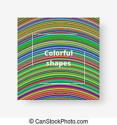 color, rayas, gráfico