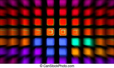 color rectangle matrix disco background