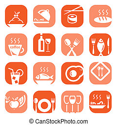 color restaurant icons