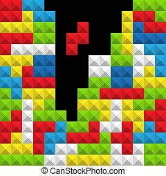 color, resumen, figuras, juego, plano de fondo