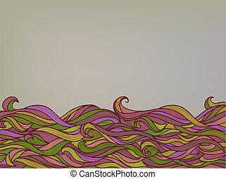 color, resumen, plano de fondo, ondas