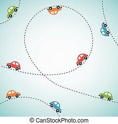 color, resumen, vector, cars., plano de fondo