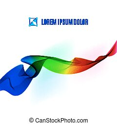 Color ribbon - Color fabric tape on a white background....