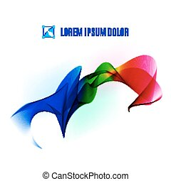 Color ribbon - Color fabric tape on white background....