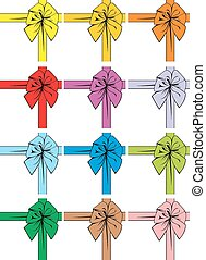 color ribbons isolated