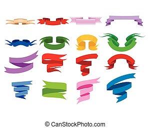 Color ribbons set