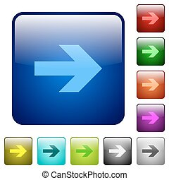 Color right arrow square buttons