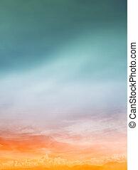 Color romantic sky background