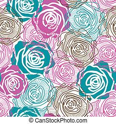 Color rose pattern