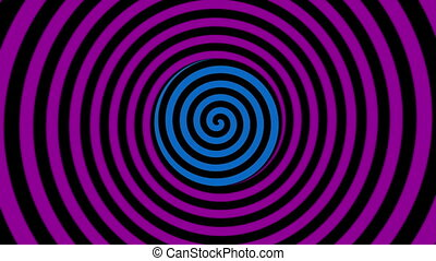 color rotating spiral for hypnosis