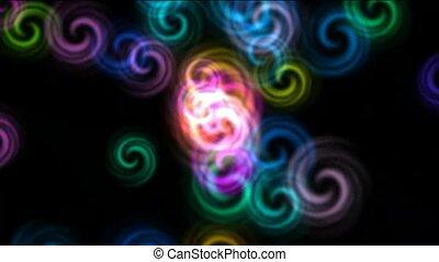color rotation fancy pattern, seamless loop, HD 1080p TIP