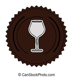 color round frame with glass of champagne sour
