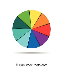 Color round palette isolated on white background, vector illustration