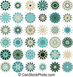 Color, símbolos, Conjunto,  ornamental