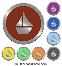 Color sailboat buttons