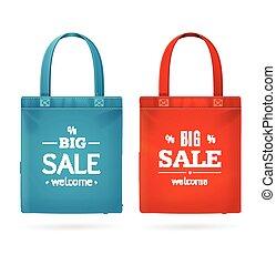 Color Sale Bag Labels Set. Vector