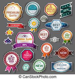 Color sale stickers set