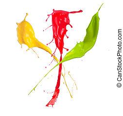color, salpicadura