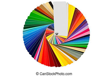 color samples isolated over white
