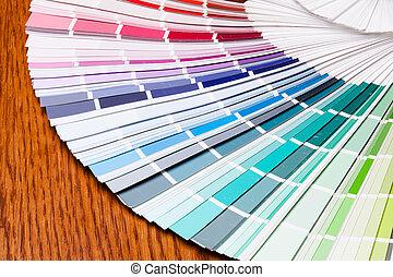 Color samples palette