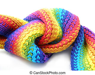 color scarf knot