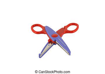 Color scissors for paper over white.