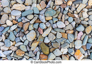 Color sea stones texture background - Creative abstract...