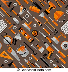 Color seamless pattern of building