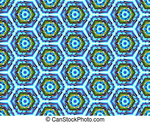 Color seamless pattern with ice pieces