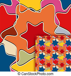 Color seamless pattern with stars