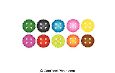 Color sequence sewing buttons