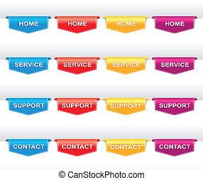 Color set of navigation labels