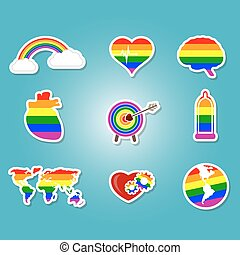 color set with Gays icons for your design
