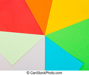 Color sheets of paper
