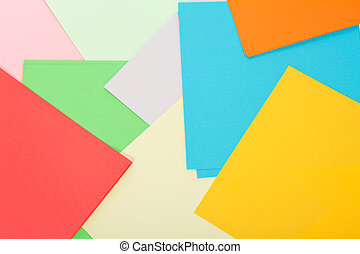 Color sheets of paper. Background