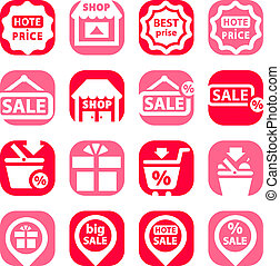color shopping icons
