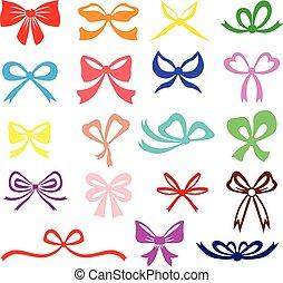 Color silhouette bow set