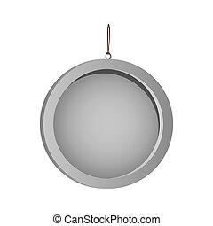 color silhouette with circular frame mirror with chain