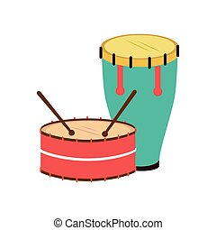 color silhouette with drum and drum stick
