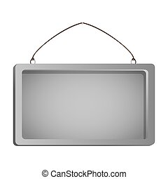 color silhouette with rectangular frame mirror with chain