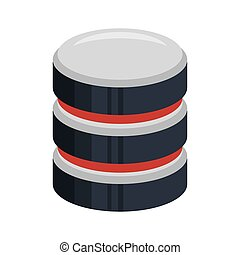color, silueta, de, base de datos, 3d, icono