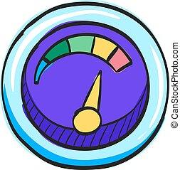 Color Sketch Icon Dashboard