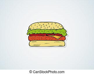 sketch of the hamburger
