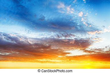 Color sky background