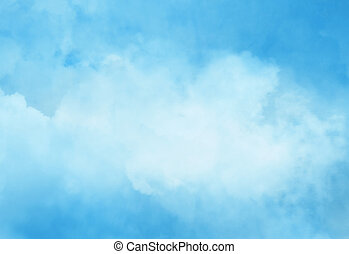 Color sky with clouds background