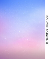 Color sky with stars , background