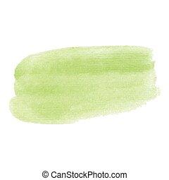 Color smear vector brush stroke. Varnish splash line trace. Abstract shape oil acrylic paint..