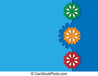 color snowflake background